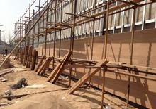 河南洛阳城墙修复工程 定制绿华塑木外墙装饰材料