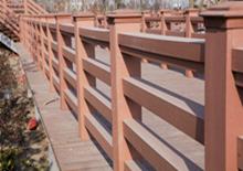 盐城润都公园 批量采购户外塑木栏杆