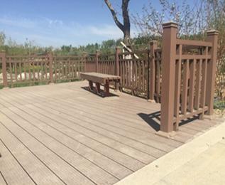 新疆大绿谷项目采购塑木空心地板140*40mm