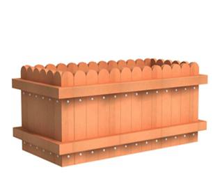 单个塑木花箱厂家选择绿华塑木