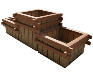 组合塑木花箱供应商选择绿华塑木
