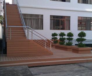 网购楼梯塑木地板 相信绿华塑木