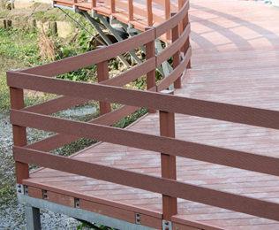 绿华木平台塑木地板价格优惠 不等于忽略质量