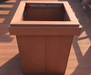 绿华小区木塑花箱 高档小区最佳选择