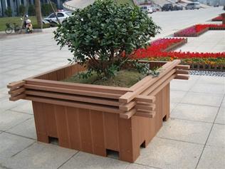 南京塑木花箱款式新颖 绿华塑木花箱
