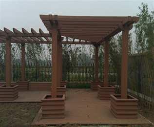 绿华塑木 公园塑木廊架采购专家