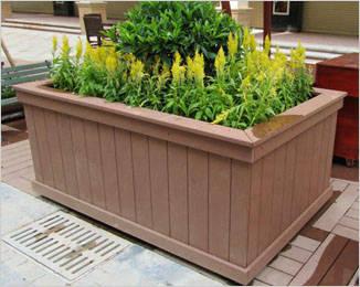 步行街塑木花箱